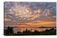Croatian Sunset, Canvas Print