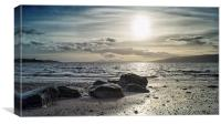 Lunderston Beach, Canvas Print