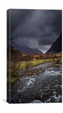Skyfall in Glencoe, Canvas Print