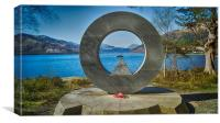 Rowardennan Memorial,, Canvas Print