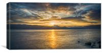 Dunoon Sunset, Canvas Print