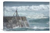foamy sea, Canvas Print