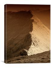 Striding edge, Canvas Print
