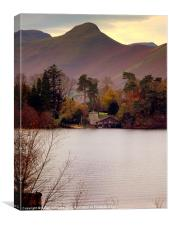 A home on Derwent water, Canvas Print