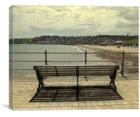 Bench on the jetty, Canvas Print