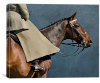 Sidesaddle rider, Canvas Print