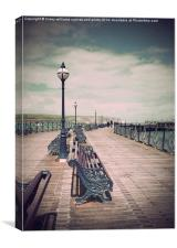 Seaside Swanage Pier, Canvas Print