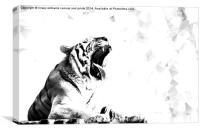 High Key Tiger Yawn, Canvas Print