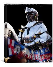 Knight And King Richards Standard, Canvas Print