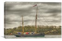 Tall Ship Bessie Ellen, Canvas Print