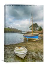 Boats On The Beach, Canvas Print
