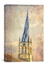 Chesterfield Church Spire, Canvas Print
