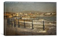 Rough Sea in Swanage Bay, Canvas Print