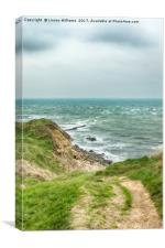 Winter at Peveril Point, Swanage, Dorset, Canvas Print