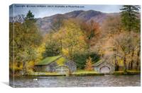 BoatHouses, Coniston Water, Canvas Print