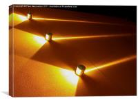 Orange Light Beams, Canvas Print