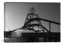 Log Flume Silhouette, Great Yarmouth, Canvas Print