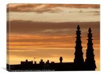 Edinburgh Silhouette Skyline, Canvas Print