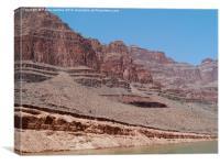 Base of the Grand Canyon - Colorado River, Canvas Print