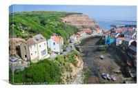 Above Staithes, Canvas Print