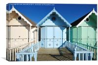 Mersea Island Beach Huts, Canvas Print