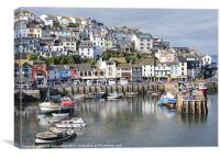 Brixham Harbour,Devon, Canvas Print