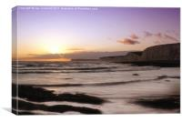 Seven Sisters Sunset, Canvas Print