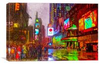 Times Square at Night, Canvas Print
