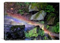 Rainbow Rocks, Canvas Print