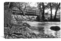 Dovedale Bridge in Black and White, Canvas Print