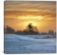 Sunrise and Snow, Canvas Print