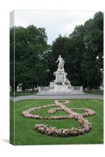 Mozart Statue Burggarten Vienna, Canvas Print