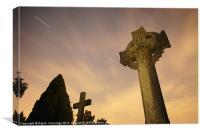 Star Trails in Graveyard, Canvas Print