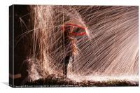 Spark Shower, Canvas Print
