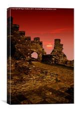 Sun Set Castle, Canvas Print