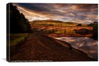 Yorkshire Bridge View, Canvas Print