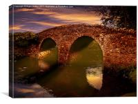 Sun Set Over Packhorse Bridge, Canvas Print