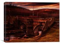 Slippery Stones Bridge, Canvas Print