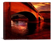 Yorkshire Bridge Sun Rise, Canvas Print