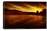 Ladybower Glow, Canvas Print