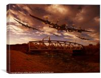 Low Flying, Training, Canvas Print