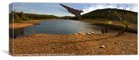 Vulcan Over Derwent Reservoir, Canvas Print