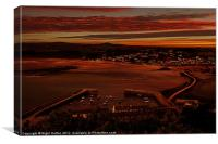 Sun Down at Marazion, Canvas Print