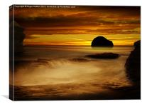Trebarwith Strand at Sunset, Canvas Print