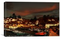 Polperro Walled Harbour, Canvas Print