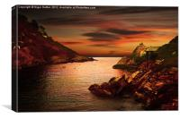 Polperro Bay, Canvas Print