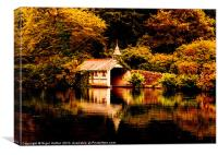 Trevrano Boat House, Canvas Print