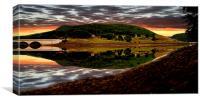 Derwent Edge Reflections, Canvas Print