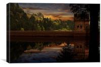 Derwent Dam Reflections, Canvas Print