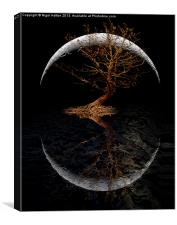 Rising Moon, Canvas Print
